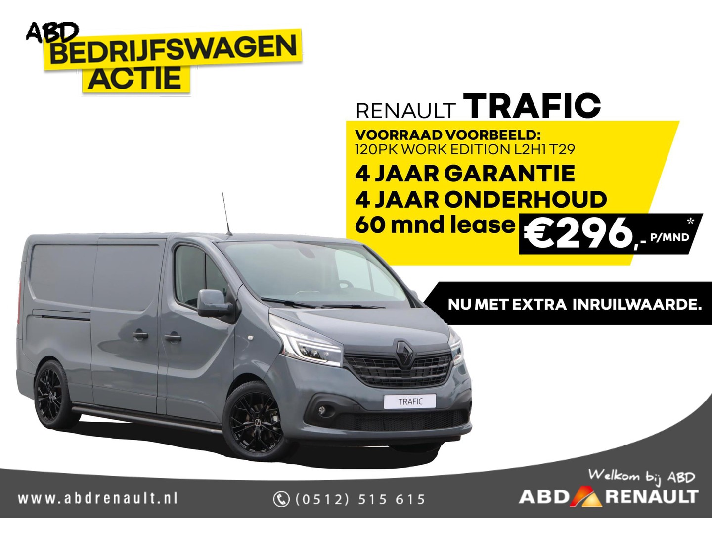 Renault Trafic 2.0 dci 120 t29 l2h1 work edition