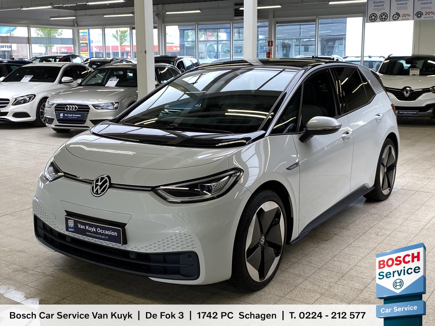 Volkswagen Id.3 First max 58 kwh 8% bijtelling / 5700 km / led / pano dak / navigatie / climate control / cruise control / stoel verwarming / pdc / enz.
