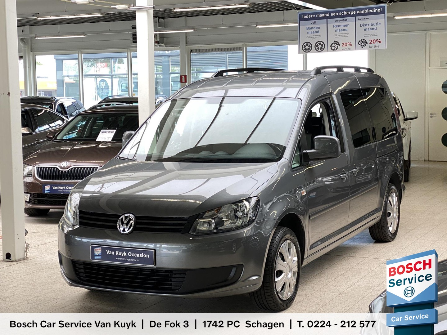 Volkswagen Caddy maxi 1.6 tdi comfortline automaat / 7 persoons / climate-control / cruise-control / pdc / enz.