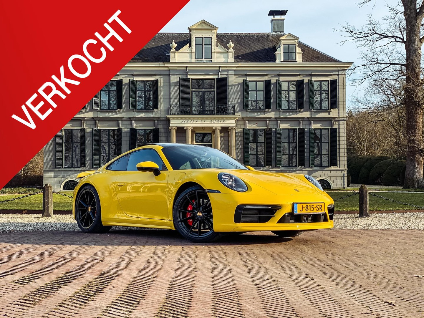 Porsche 911 3.0 carrera s btw-auto/ sport chrono/ speed yellow/ schuifdak/ nw prijs 225.000,-!