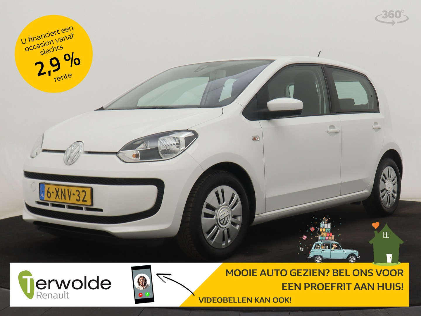 Volkswagen Up! 1.0 move up! bluemotion 5drs airco i audio i navigatie
