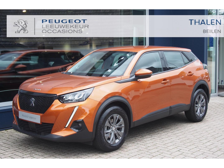 Peugeot 2008 Pack uitvoering 100 pk turbo nu € 3500 demovoordeel - met climate control/dab+ ontvanger/parkeersensoren/led verlichting/navigatie via carplay