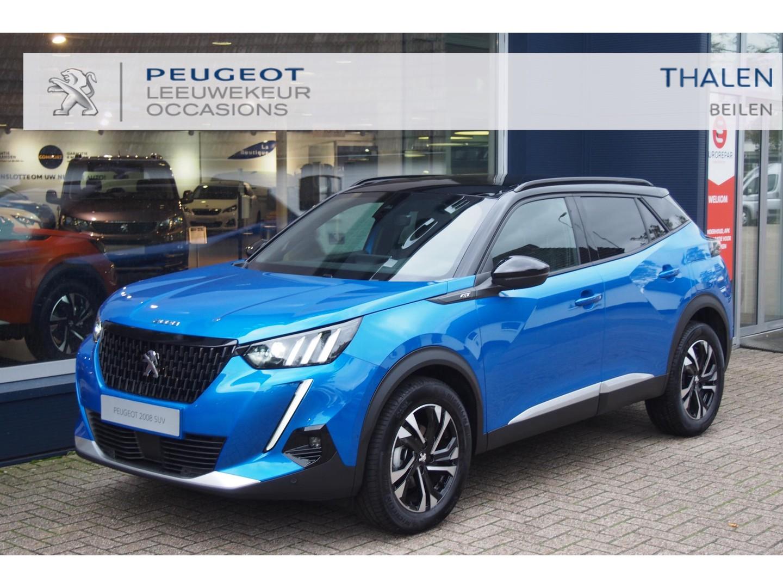 Peugeot 2008 Gt 130pk nu met € 4200,- demovoordeel - mat panodak/keyless/navi/camera/led verlichting - zeer luxe demo van 07-2021