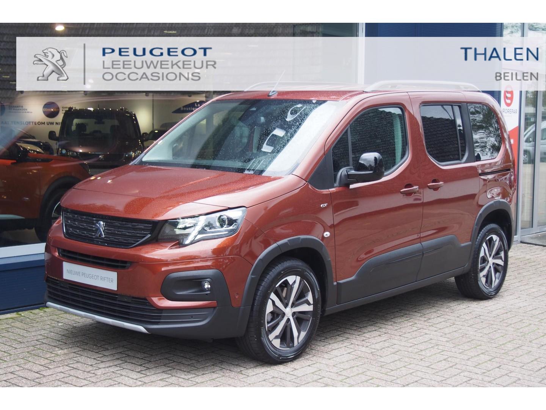 Peugeot Rifter Gt 130pk eat8 automaat nu € 8000,- demovoordeel - met 2x zijschuifdeur/navi/camera/draadloze tellader/stoelverwarming - zeer complete demo van 07-2021!