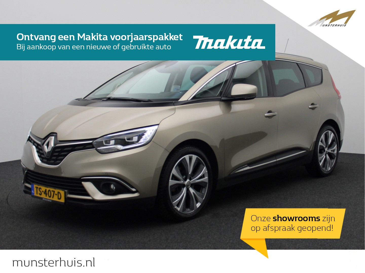 Renault Grand scénic Tce 140 intens 7p. - 7 persoons - glazen dak - full led -